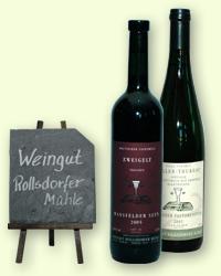 Weinsortiment Weingut Rollsdorfer Mühle
