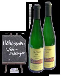 Weinsortiment des Höhnstedter Weinerzeugers